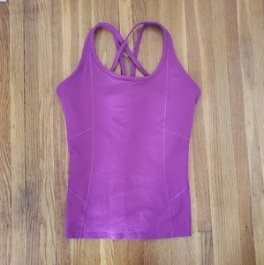 Athleta Fitted Purple Racerback Tank